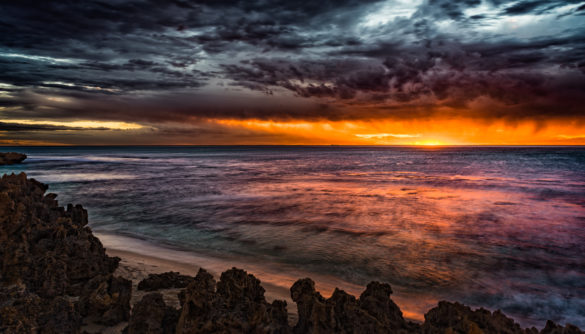 North Beach, Sunset, Australia, Perth