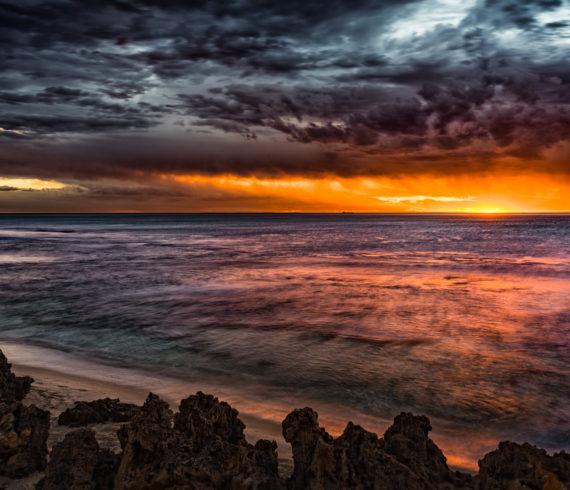 North Beach, Sunset, Australia, Perth